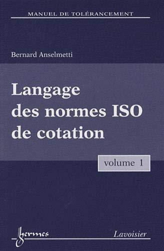 Langage des normes ISO de cotation
